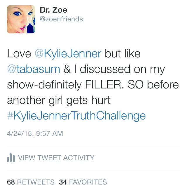 Kylie Jenner Challenge Tweet